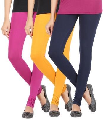 Elance Women's Pink, Gold, Dark Blue Leggings