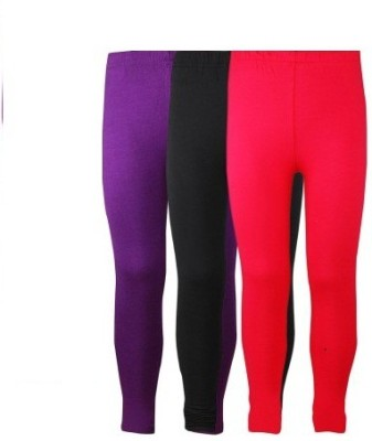 bhk Women's Black, Red, Purple Leggings