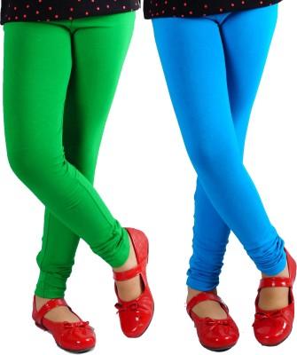 Naughty Ninos Girl's Green, Blue Leggings