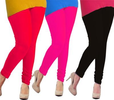 Tyra Women's Red, Pink, Black Leggings