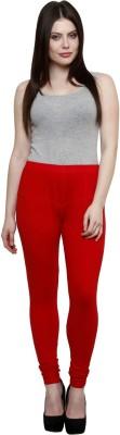 Pistaa Women's Red Leggings