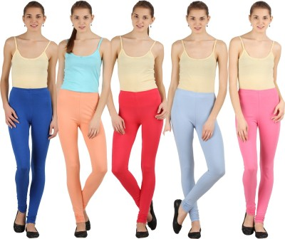 Silvio Women's Pink, Dark Blue, Light Blue, Beige, Pink Leggings