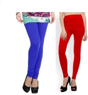 Edge Plus Women's Red, Dark Blue Leggings