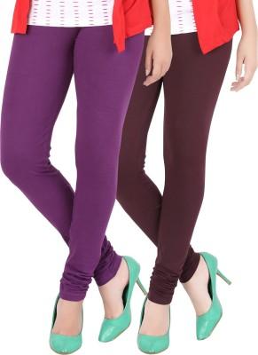Dansik Women's Purple, Maroon Leggings