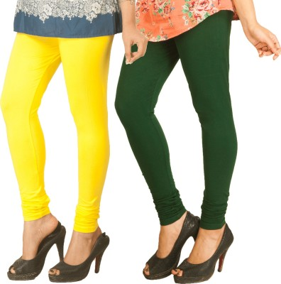 Berries Women's Yellow, Dark Green Leggings