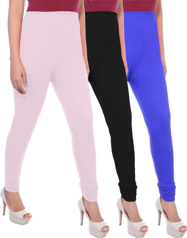 Apple Knitt Wear Women's Maternity Wear Pink, Black, Blue Leggings(Pack of 3)
