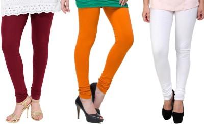 Lienz Women's Maroon, Orange, White Leggings
