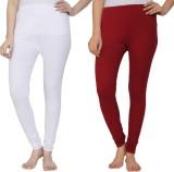Krazy Katz Women's White, Maroon Legging...