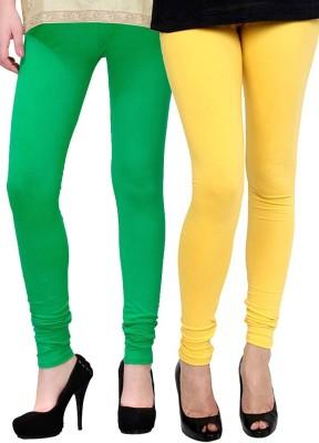 Lavennder Women's Light Green, Yellow Leggings