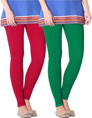 Nice Fit Women's Red, Green Leggings