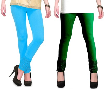 RobinRomeo Women's Green, Blue Leggings