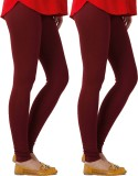 Blu Roller Women's Maroon Leggings (Pack...