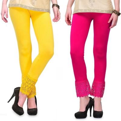 RobinRomeo Women's Pink, Yellow Leggings