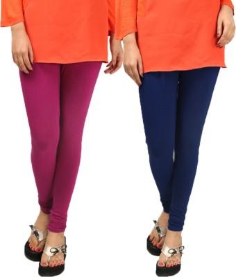 Anvi Fashion Women's Pink, Dark Blue Leggings