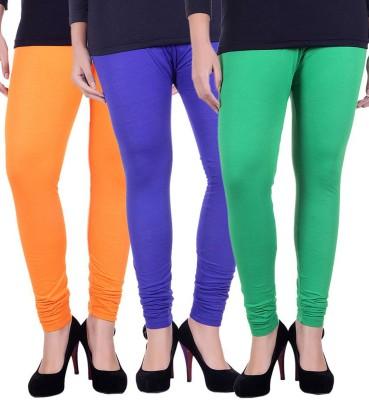 Facere Women's Green, Orange, Blue Leggings