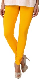 American-Elm Women's Yellow Leggings