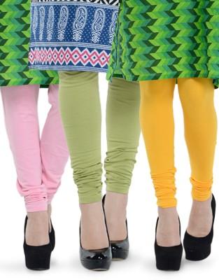 Tjaggies Women's Yellow, Pink, Light Green Leggings