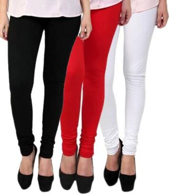 Abito Juniors Women's Black, Red, White Leggings