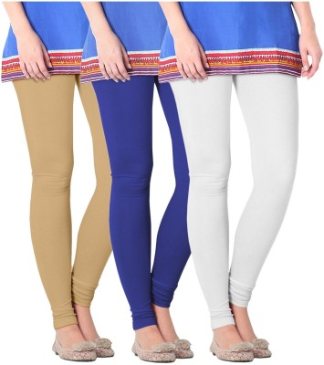 Nice Fit Women's Blue, White, Beige Leggings