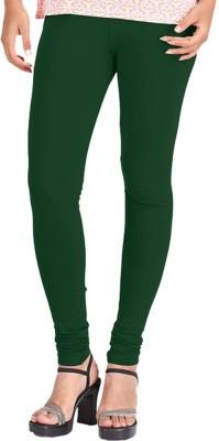 WellFitLook Women's Dark Green Leggings