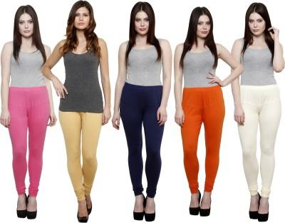 Pistaa Women's Pink, Beige, Dark Blue, Orange, White Leggings