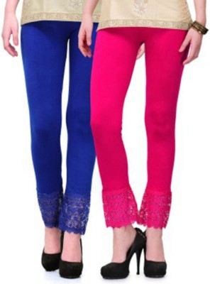 Roma Creation Women's Blue, Pink Leggings