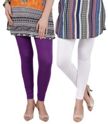 Bembee Women's Purple, White Leggings