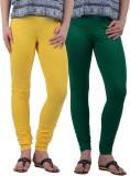 American-Elm Women's Green, Yellow Leggi...