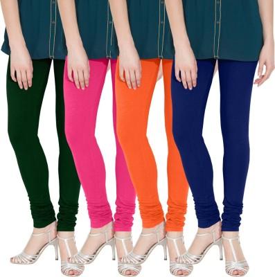 Nicewear Women's Green, Pink, Orange, Blue Leggings