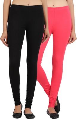 Sewn Women's Black, Pink Leggings