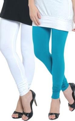 Tulsattva Women's Light Blue, White Leggings