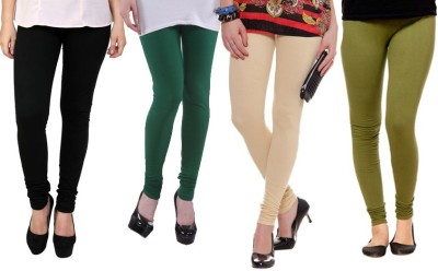 Dharamanjali Women's Black, Green, Beige, Dark Green Leggings