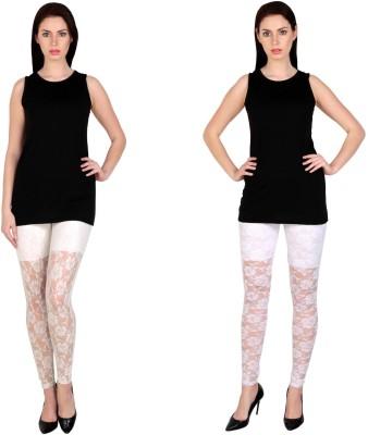 Simrit Women's White, White Leggings