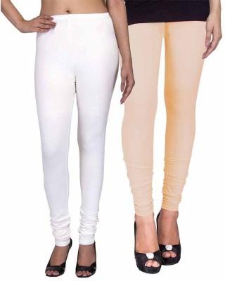 Ayesha Fashion Women's White, Beige Leggings