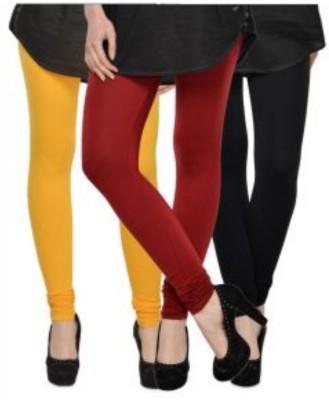 JUST CLIKK Women's Yellow, Red, Black Leggings