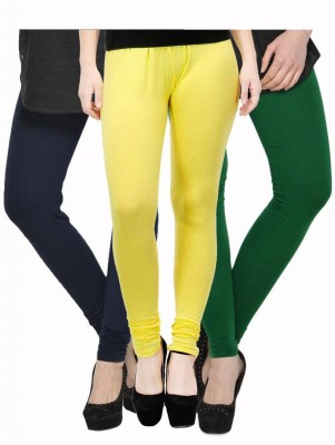 Fashion Zilla Women's Blue, Yellow, Green Leggings