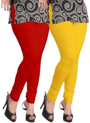 Shikha Women's Red, Yellow Leggings