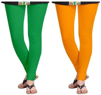 Roshni Creations Women,s Green, Orange Leggings