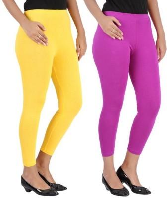 RIF Women's Yellow, Purple Leggings