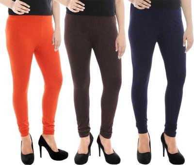 Paulzi Women's Orange, Brown, Blue Leggings