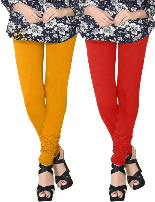 JV Wears Women's Yellow, Red Leggings