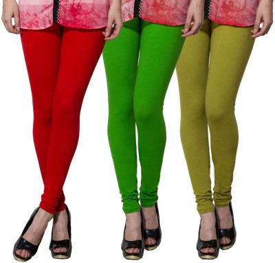 Both11 Women's Red, Green, Light Green Leggings
