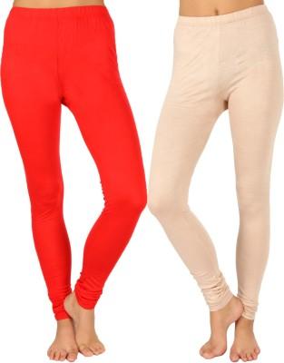 SLS Women's Red, Beige Leggings