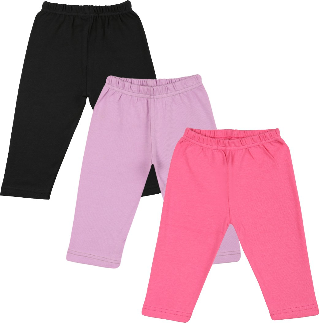 Color Fly Baby Girls Black, Pink, Purple Leggings