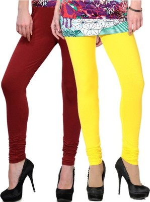 NGT Women's Maroon, Yellow Leggings
