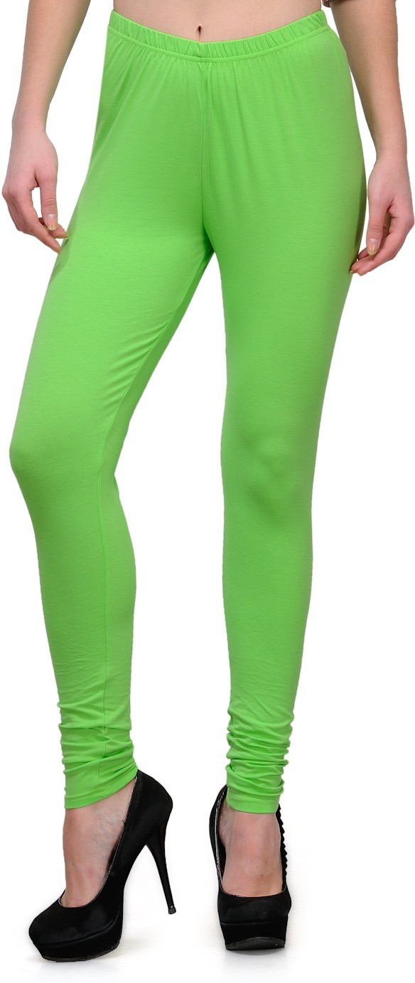 Ffu Womens Green Leggings