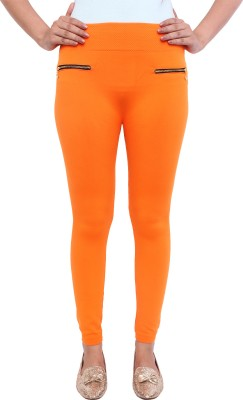 White Feather Women's Orange Jeggings