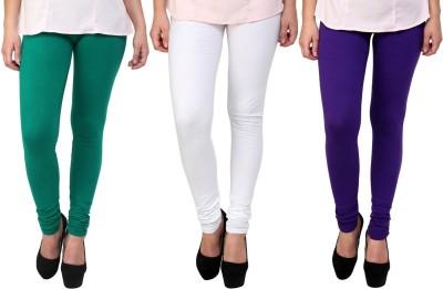 Legemat Girl,s Green, White, Purple Leggings