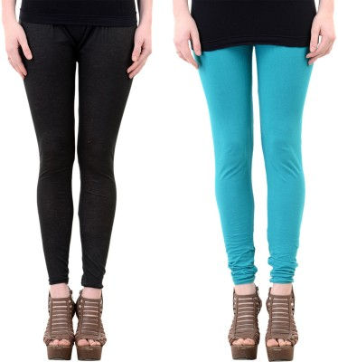 Mynte Women's Black, Blue Leggings