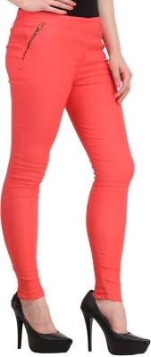 Fashion Arcade Women's Orange Jeggings